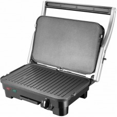 Grill contact 1800 W with replaceable panels, with regulat.temperature, juice / grease drain pan, scraper blades complete with GRUNHELM G1800