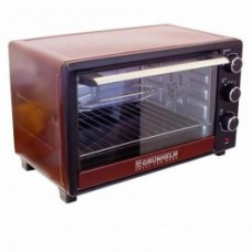 Electric oven 33 l, 1600 W with convection + grill GRUNHELM GN33ARC (claret)