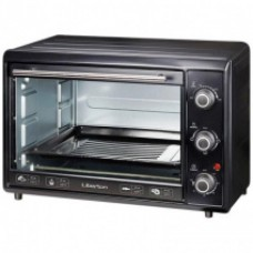 Electric oven 45l, 2200 W with convection + GRUNHELM GN45AC pizza pan (black)