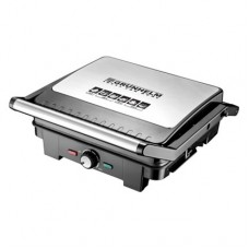 GRUNHELM G1600 contact grill, 1600 W with temperature control, juice pan / grease drain pan G1600